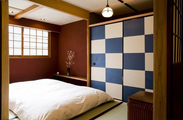 Tatami mat bedroom, with double futon.