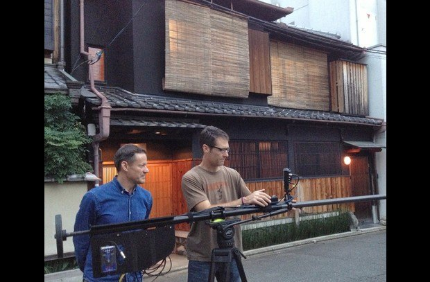 HGTV filiming The Gion House for the USA TV show You Live In What?